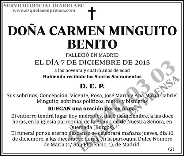 Carmen Minguito Benito